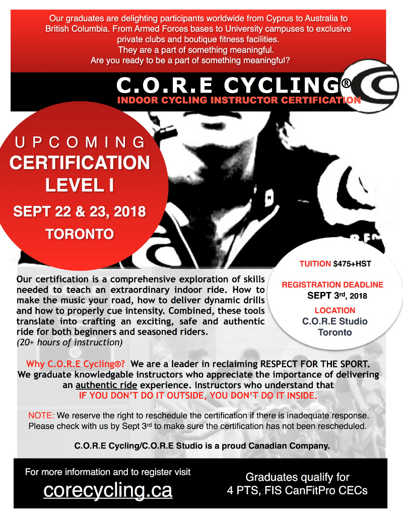 Core Cycling Creating The Optimal Ride Experience